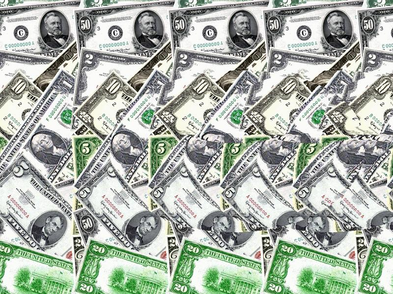 autostereogram picture with dollar notes, link to Mhb's Math pages